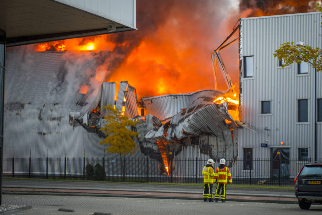 Brand Lascentrum Ridderkerk